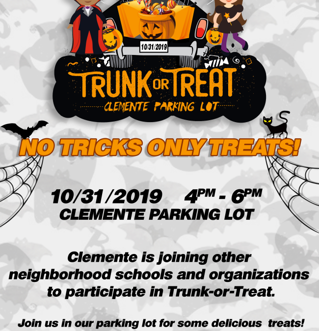 THURSDAY OCT. 31 | TRUNK or TREAT