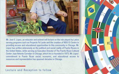 THURSDAY OCT. 17 | JOSE LOPEZ KEYNOTE SPEAKER AT LATINX HERITAGE CLOSING CELEBRATION